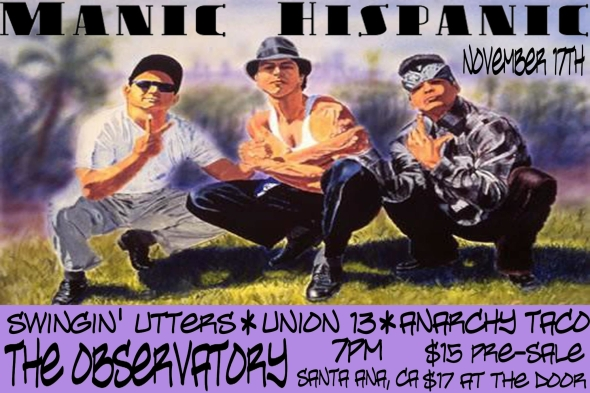 Manic Hispanic Yearbook Flyer